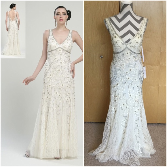 7db372533bc Sue Wong Gorgeous Antique Embroidered Wedding Gown